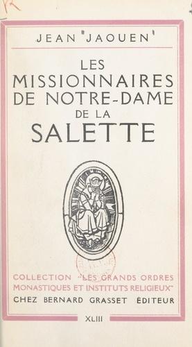 Les missionnaires de Notre-Dame de La Salette