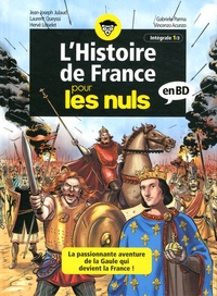 Jean-Joseph Julaud et Laurent Queyssi - L'histoire de France pour les nuls en BD Intégrale Tome 1 : Les Gaulois ; Le Haut Moyen Age ; Des croisades aux Templiers.