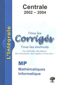 Deedr.fr Mathématiques et Informatique MP Centrale 2002-2004 Image