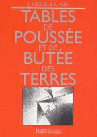 Jean Kerisel et E Absi - Tables de poussée et de butée des terres.