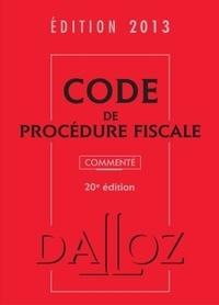 Jean Lamarque - Code de procédure fiscale commenté - Edition 2013. 1 Cédérom