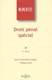 Jean Larguier et Philippe Conte - Droit pénal spécial.