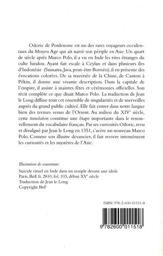 Le voyage en Asie d'Odoric de Pordenone. Iteneraire de la peregrinacion et du voyaige (1351)