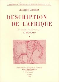 Jean-Léon l'Africain - Description de l'Afrique - Tomes 1 et 2.
