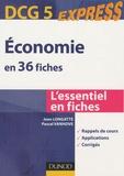 Jean Longatte et Pascal Vanhove - DCG 5 : Economie en 36 fiches.