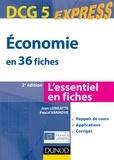 Jean Longatte et Pascal Vanhove - Économie DCG 5 - 2e éd. - en 36 fiches.