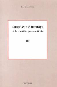 Histoiresdenlire.be L'impossible héritage de la tradition grammaticale Image