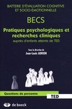 Jean-Louis Adrien - Batterie d'évaluation cognitive et socio-émotionnelle - Pratiques psychologiques et recherches cliniques auprès d'enfants atteints de TED.