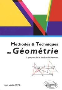Histoiresdenlire.be Méthodes & techniques en géométrie - A propos de la droite de Newton Image