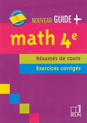 Jean-Louis Boursin - Math 4e - Résumés de cours, exercices corrigés.