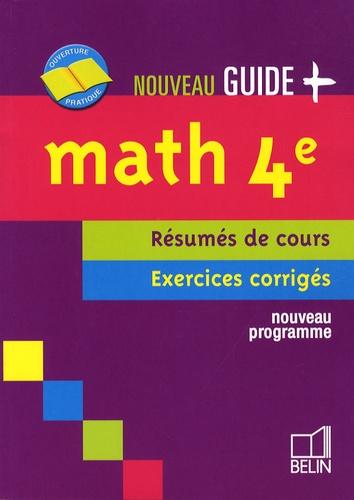 Jean-Louis Boursin - Maths 4e - Résumés de cours, exercices corrigés.