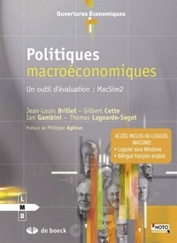 Politiques macroéconomiques- Un outil d'évaluation : MacSim2 - Jean-Louis Brillet |