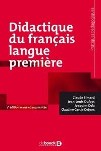 Jean-Louis Dufays et Joaquim Dolz - Didactique du français langue première.