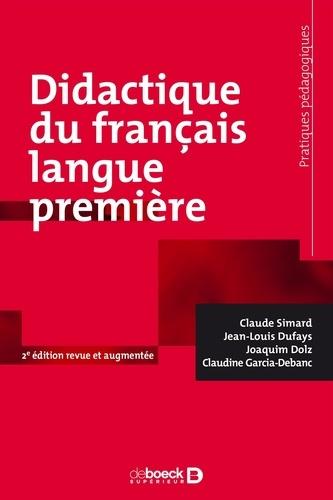 Didactique du français langue première 2e édition revue et augmentée