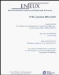 Jean-Louis Dumortier et Alixe Constant - Enjeux n°86 - Automne/Hiver 2013.