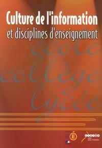 Deedr.fr Culture de l'information et disciplines d'enseignement Image