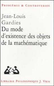 Du mode dexistence des objets de la mathématique.pdf