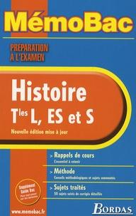 Jean-Louis Humbert et Elisabeth Jouhaud - Histoire Tles L, ES et S - Préparation à l'examen.