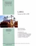 Jean-Louis Huot - Larsa - Travaux de 1987 et 1989.