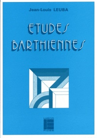 Jean-Louis Leuba - Études barthiennes.