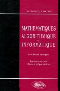 Goodtastepolice.fr MATHEMATIQUES. Algorithmique et Informatique, Problèmes corrigés, Premier cycle et classes préparatoires Image