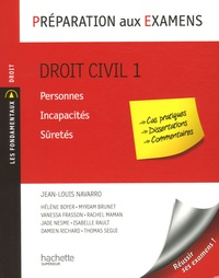 Jean-Louis Navarro - Droit civil 1 - Personnes, incapacités, sûretés.