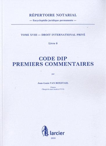 Jean-Louis Van Boxstael - Code DIP - Premiers commentaires.