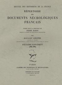 Jean-Loup Lemaître - Répertoire des documents nécrologiques français - Deuxième supplément (1987-1992).