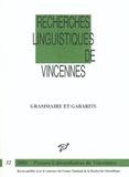 Jean Lowenstamm et  Collectif - Grammaire et gabarits.