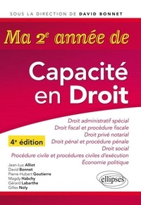 Jean-Luc Alliot et David Bonnet - Ma 2e année de Capacité en droit.