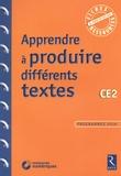 Jean-Luc Caron et Christelle Chambon - Apprendre à produire différents textes CE2. 1 Cédérom