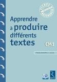 Jean-Luc Caron et Christelle Chambon - Apprendre à produire différents textes CM1. 1 Cédérom