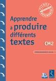 Jean-Luc Caron et Christelle Chambon - Apprendre à produire différents textes CM2. 1 Cédérom