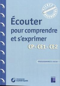 Jean-Luc Caron et Christian Lamblin - Ecouter pour comprendre et s'exprimer CP-CE1-CE2. 1 DVD