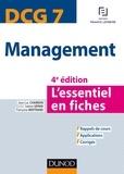 Jean-Luc Charron et Sabine Sépari - DCG 7 - Management - 4e éd. - L'essentiel en fiches.