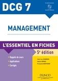 Jean-Luc Charron et Sabine Sépari - DCG 7 - Management - 5e ed - L'essentiel en fiches.