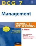 Jean-Luc Charron et Sabine Sépari - DCG 7 - Management - 5e éd. - Manuel et Applications, corrigés inclus.