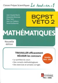 Jean-Luc Clabecq et Hervé Guillaume - Mathématiques BCPST-VETO 2e année.