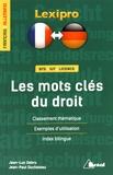 Jean-Luc Debru et Jean-Paul Duchateau - Les mots clés du droit.