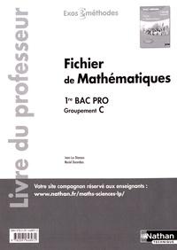 Jean-Luc Dianoux et Muriel Dorembus - Fichier de mathématiques 1re Bac Pro groupement C - Livre du professeur.