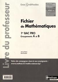 Jean-Luc Dianoux et Muriel Dorembus - Fichier de mathématiques 1re Bac Pro groupements A et B - Livre du professeur.