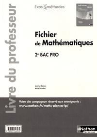Jean-Luc Dianoux et Muriel Dorembus - Fichier de mathématiques 2e Bac Pro - Livre du professeur.