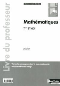 Jean-Luc Dianoux et Muriel Dorembus - Mathématiques Tle STMG - Livre du professeur, programme 2013.