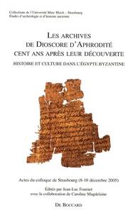 Deedr.fr Les archives de Dioscore d'Aphrodité cent ans après leur découverte - Histoire et culture dans l'Egypte byzantine Image