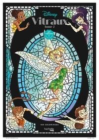 Jean-Luc Guérin et  Disney - Disney Vitraux - 100 coloriages. Tome 2.