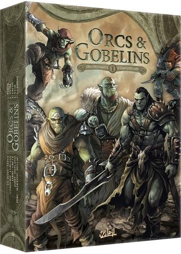 Orcs & Gobelins Saison 1 Coffret en 5 volumes. Tome 1, Turuk ; Tome 2, Myth ; Tome 3, Gri'im ; Tome 4, Sa'ar ; Tome 5, La Poisse