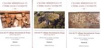 Jean-Luc Lamboley et Luan Përzhita - L'Illyrie méridionale et l'Epire dans l'Antiquité - Actes du VIe colloque international de Tirana (20-23 mai 2015) 3 volumes.