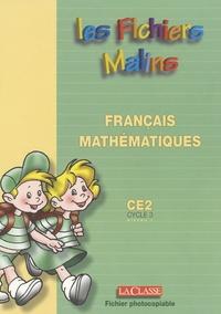 Jean-Luc Lamotte - Mathématiques, français Ce2 Cycle 3, niveau 1 les fichiers malins - Entrainement, révision, soutien.
