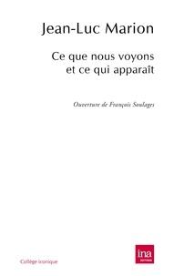 Jean-Luc Marion - Ce que nous voyons et ce qui apparaît.