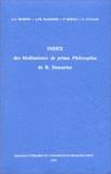 Jean-Luc Marion - Index des meditationes de prima philosophia de René Descartes.